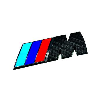 Black Carbon Fibre BMW ///M Boot Side Wing Interior Badge Stick On For All Models