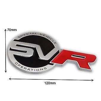 Metal Range Rover Rear SVR Emblem Badge