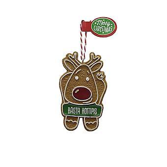 Figura de pan de jengibre MEJOR AMIGO colgante de árbol de Navidad