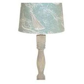 White Finish Table Lamp Base Only