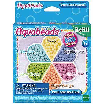 Aquabeads - pachet de mărgele solide pastel singur