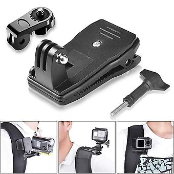 Fantaseal 3in1 anti-slide 360 degree rotary action camera clamp mount kit waterproof motion camcorde