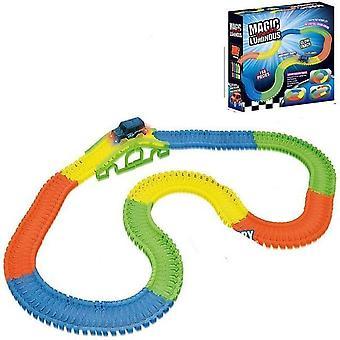 Eisenbahn Magisch glühende flexible Schiene, Auto Spielzeug