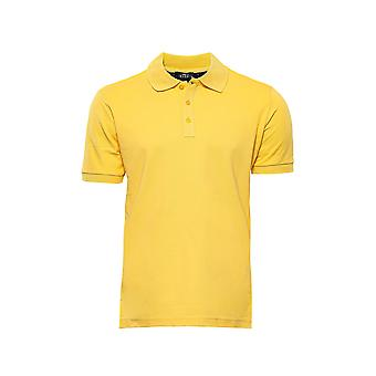T-shirt en col polo jaune Oxford