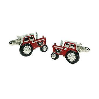Ties Planet Red Tractor Novelty Cufflinks