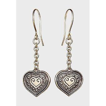 Kalevala Earring Women's Eura Heart Bronze 3610951K