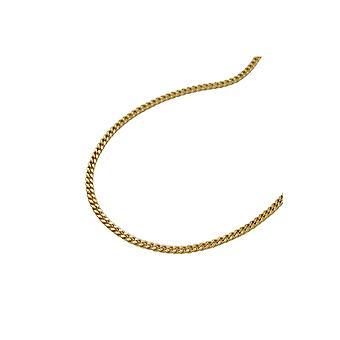 Ketting Curb Ketting 2x Diamond Cut 8k Gold 40cm