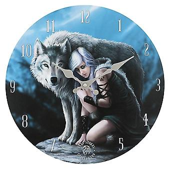Anne Stokes Protector Wall Clock
