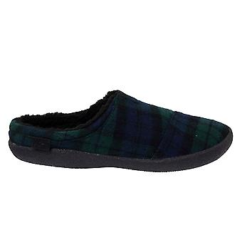 Toms Berkeley Spruce Plaid Green Quilted Wool Mule Mens Slippers 10012445