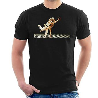 Iso Lebowski The Dude and Maude Bowling Dream Sequence Men's T-paita
