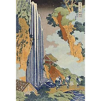 Ono Waterfall The Kiso Highway Poster Print by Hokusai