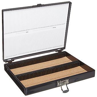 Heathrow scientific hd15994g microscope slide box, cork lined, 100 place, 208 mm length x 175 mm wid