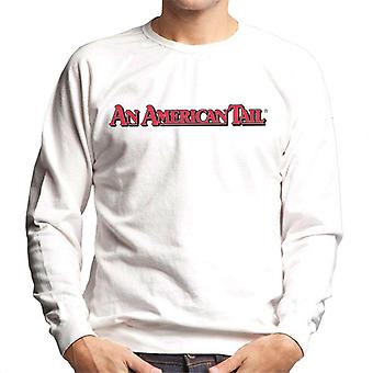 An American Tail Classic Red Text Logo Men's Sweatshirt