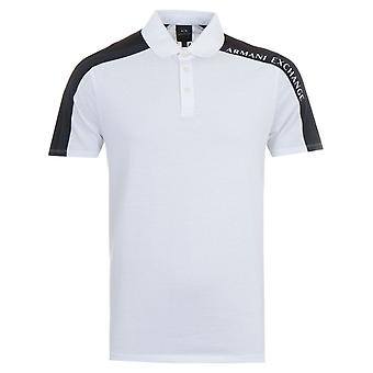 Armani Exchange Contrast Polo Shirt - White