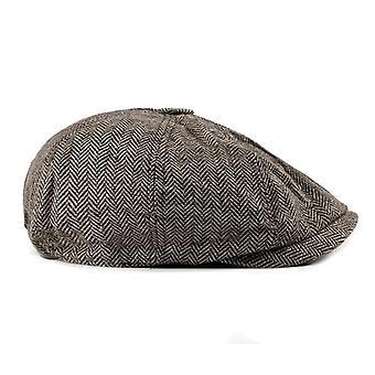 Homens/mulheres Tweed Gatsby Octagonal Herringbone Vintage Ivy Hats