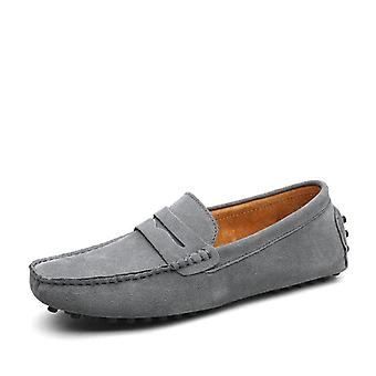 Large Size 50, Loafers Soft Moccasins, Genuine Leather Shoes & Warm Flats