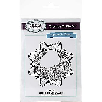 Creative Expressions Lotties's Sunflower Pre Cut Stamp Co-ords With CED4369