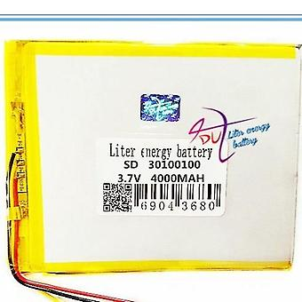 3 Line 30100100 3.7v Lithium Tablet Polymer Battery