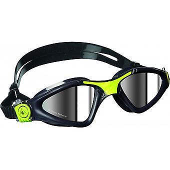 Aqua Sphere Kayenne Swim Goggle - Mirrored Lenses - Grey/Lime