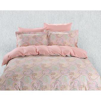 Conjunto de sábanas de cubierta de edredón, ropa de cama Dolce Mela Corfu Queen Size