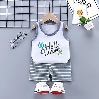 Baby Clothes Set Clothing Suits Vest Shorts Toddler Kids Outfits Summer