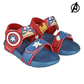 Beach sandals the avengers red