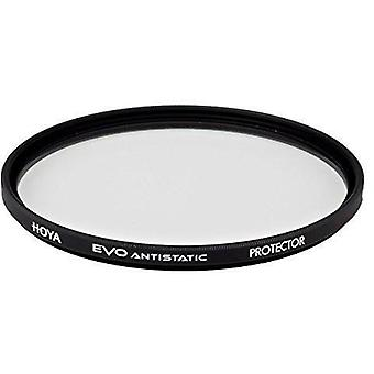 Hoya evo antistatic protector filter-58mm - dust / stain / water repellent, low-profile filter frame