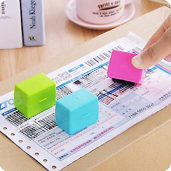 Security Hide Identity Garbled Self-inking Plastic Roller Stamp