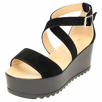 Koi Footwear Ankle Strap Wedge High Heel Platform Sandals