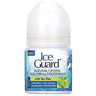 Optima Deodorant von Mineralsalzen mit Teebaum Roll On, 50 ml