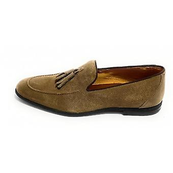 Lenny Men's Loath in Suede With Beige Antelope Hole And Pendagli Us20el06