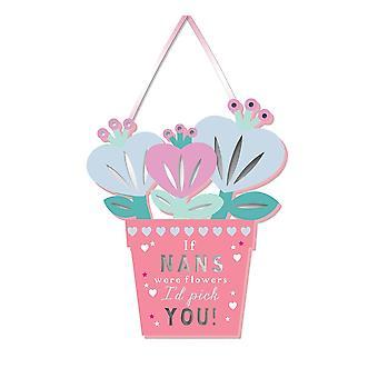 WPL meer dan woorden als nans bloemen waren id pick you hangende plaquette