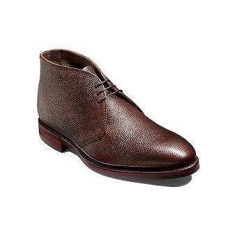 Barker Orkney S - Grano marrón oscuro | Botas Chukka de cuero hecho a mano | Zapatos Barker