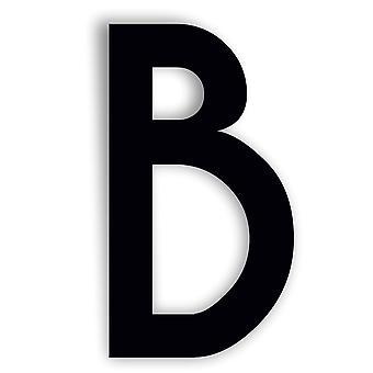 Carattere caviale carattere alfabeto specchio acrilico o simbolo di porta acrilico nero - B