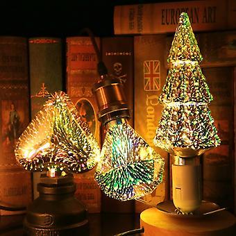 Bombilla LED Edison Bombilla 3D Bombilla de decoración A60 ST64 G95 G80 G125 E27 Luces navideñas Novedad Lámparas de Navidad Lamparas