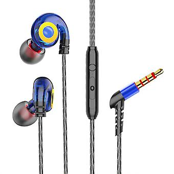 GHITRAG T05 Earbuds with Microphone and Music Control - 3.5mm AUX Earpieces Wired Earphones Earphone Volume Control Blue