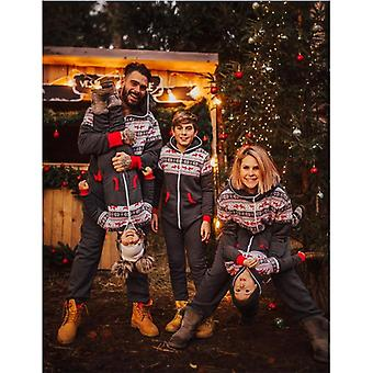 Familie Weihnachten Pyjamas Kapuzen Strampler Jumpsuit