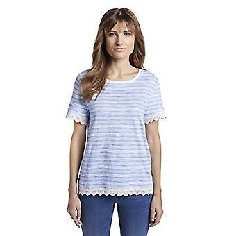 TOM SKRÄDDARE Denim Hakelborten T-Shirt, 21369/Str Blå Vit, XS Kvinna
