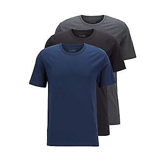 BOSS تي شيرت العقيد روند الرجال العادية تناسب تي شيرت، حزمة من 3 قطعة، الأزرق (الأزرق المفتوح 497)، المتوسطة