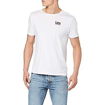 Lee Logo Tee T-Shirt, Vit (Vit Vit 14), XX-Stora Män