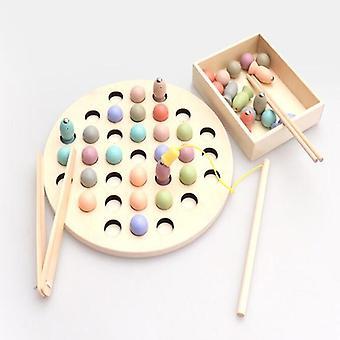 Kinderen Speelgoed Montessori Houten Speelgoed Handen Hersenen Training Clip Kralen Puzzel Bord Math Game| Wiskunde Speelgoed