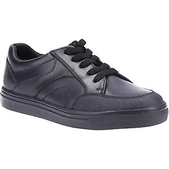 Hush Puppies Boys Shawn Leather School Shoes