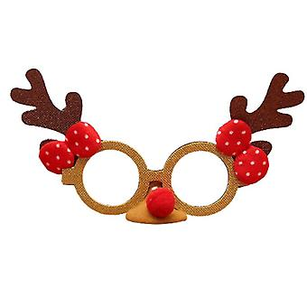 عيد ميلاد سعيد نظارات الزينة سانتا كلوز الأيل رجل الثلج النظارات الشمسية الجدة
