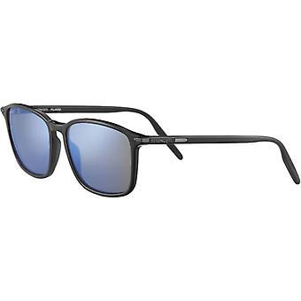 Serengeti Lenwood 8931 Shiny Black/Mineral Polarized 555nm Blue Sunglasses