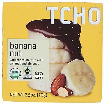 Tcho Choc Bar Drk Banana Nut, حالة 12 X 2.5 Oz