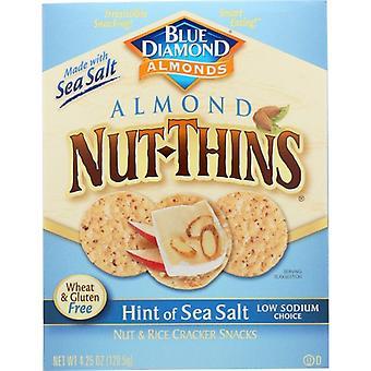 Blue Diamond Cracker Nut Thin Sea Salt, Case of 12 X 4.25 Oz