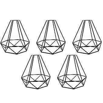 Iron  Lamp Cover, retro chandelier lampshade, diamond birdcage lampshade
