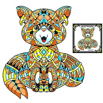 Children's Puzzles Animal Shapes Wood 3d Jigsaw Puzzle Fox-shaped Children Puzzles Gifts