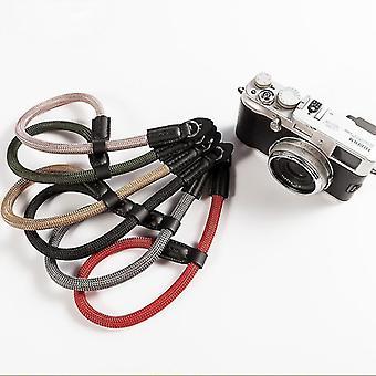 Besegad nylon fait à la main Appareil photo numérique Bracelet de poignet Poignée Poignée Bracelet pour Canon Sony Leica