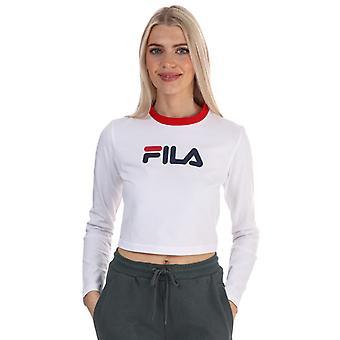 Women's Fila Jaya Long Sleeve Crop T-Shirt in White
